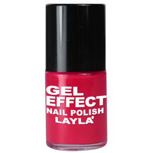 Layla Cosmetics Gel Effect Nail Polish N.05 Coral Red (10ml)
