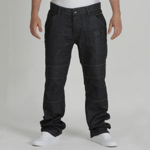 Dissident Men's Daniel Jeans - Black Coated Denim