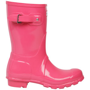 Hunter Women's Original Short Gloss Wellies - Crimson Pink
