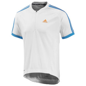 Adidas Response Short Sleeve Jersey - White/Solar Blue
