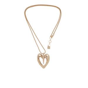 Kardashian Kollection KK Retro Geo Heart Pendant Necklace - Gold