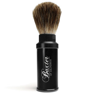 Pure Badger Hair Travel Aluminium Shave Brush