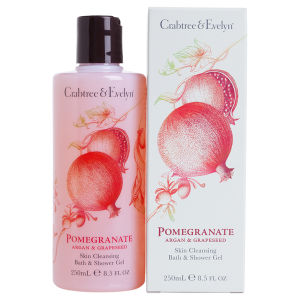 Crabtree & Evelyn Pomegranate, Argan & Traubenkern Bade- & Duschgel (250 ml)