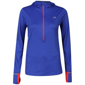 New Balance Women's Impact 1/2 Zip T-Shirt - Blue