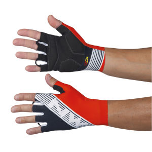 Northwave Bullet Graphic Long Cuff Gloves - Black/Red