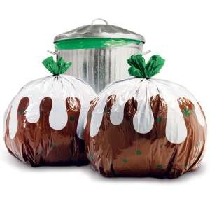 Christmas Pudding Bin Bags from I Want One Of Those