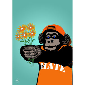 Monkey Gulf A3 Poster von Johnny Cotter