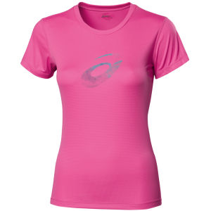 Asics Women's Graphic Short Sleeve T-Shirt - Pink