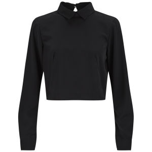 Vero Moda Women's Collared Top - Black