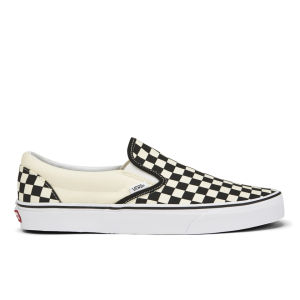 Vans Men's Classic Slip-On Canvas Trainers - Black/White