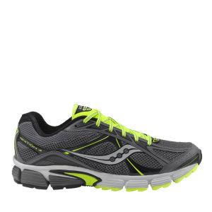 Saucony Men's Ignition 4 Running Shoe - Grey/Black/Citron