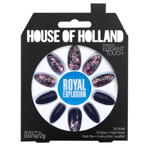 House of Holland Nails Created by Elegant Touch - Royal Explosion