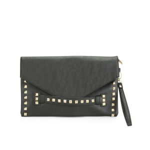 Thomas Calvi Women's Stud Clutch - Black