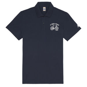 Le Coq Sportif Tour de France N3 Short Sleeved Polo Shirt - Blue