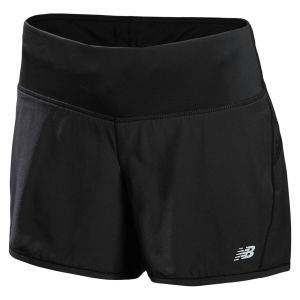 New Balance Women's Impact 5 Inch 2 in 1 Shorts - Black