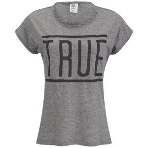 Vero Moda Women's Game Slogan Top - Grey