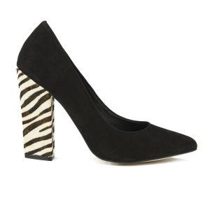 Ravel Women's Oklahoma Zebra Heel Pointed Court Shoes - Black