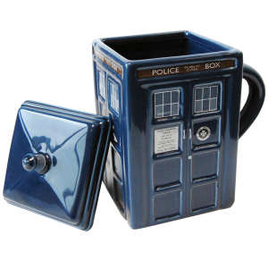 Dr Who: 3D Moulded Tardis Mug and Lid