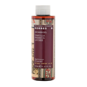 Shower gel de vainilla, fresia y lichi de KORRES 250 ml