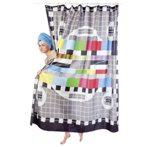 Test Card Shower Curtain