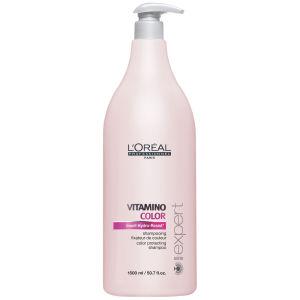 Shampoing fixateur de couleur L'Oréal Professionnel Série Expert Vitamino Color (1500ml) - Pompe inclue
