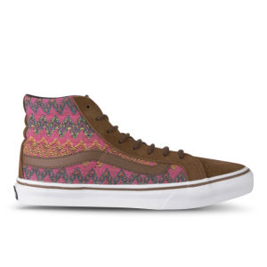 Vans Women's Sk8-Hi Slim Hi-Top Trainers - (Zig Zag) Dachshund/True White