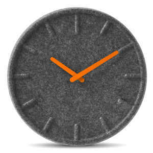 LEFF Amsterdam Felt Clock 35cm - Orange