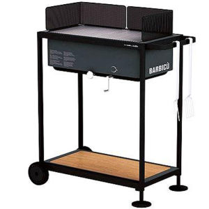 Alessi Optional Gas Grill BBQ Bundle (Alessi Gas BBQ, Table Car and Furnace Cover)