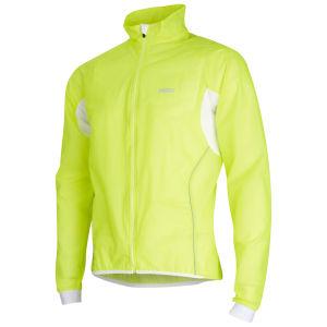 PBK Race Transparent Cycling Jacket Yellow Fluo