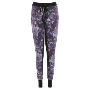 Damned Delux Women's Printed Jogging Pants with Contrast - Multi
