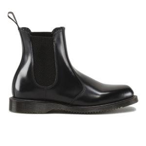 Dr. Martens Women's Kensington Flora Polished Smooth Leather Chelsea Boots - Black