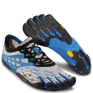 Vibram 5 Fingers Men's Seeya LS Running Trainers - Light Grey/Blue/Black
