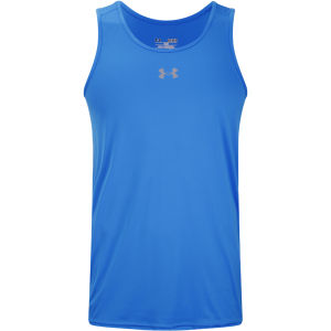 Under Armour Men's HG Flyweight Run Singlet - Electric Blue/Reflective