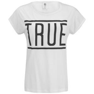 Vero Moda Women's Game Slogan Top -  Snow White
