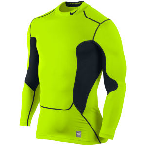 Nike Men's Hyper Warm DF Max Shield Compression Mock - Volt/Black