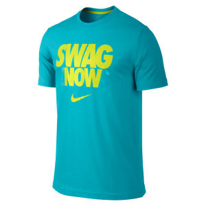 Nike Men's Dri Fit Swag Now T-Shirt - Blue