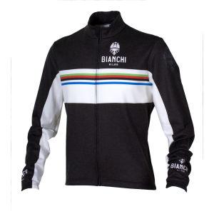 Bianchi Men's Saldura Long Sleeve Full Zip Jersey - Black/White