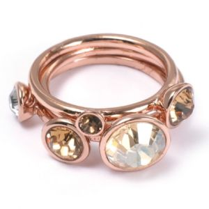 Ted Baker Jewel Stack Ring Rose Coloured