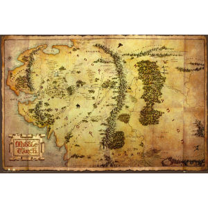 The Hobbit Map - Maxi Poster - 61 x 91.5cm