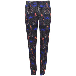 Vero Moda Women's Maunta Loose Printed Trouser - Asphalt