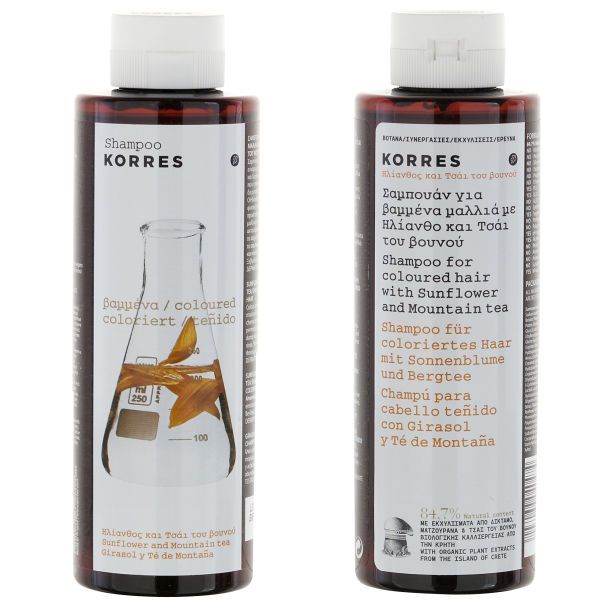 KORRES Shampoo Sunflower and Mountain Tea For Coloured Hair