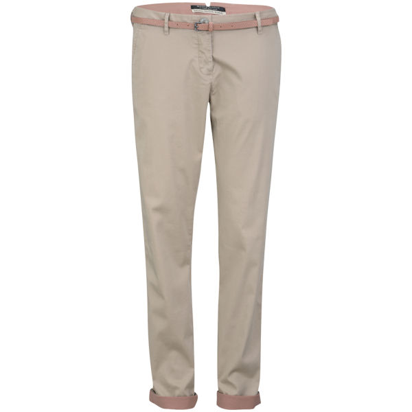 Maison Scotch Women's Double Faced Stretch Chino - Sand