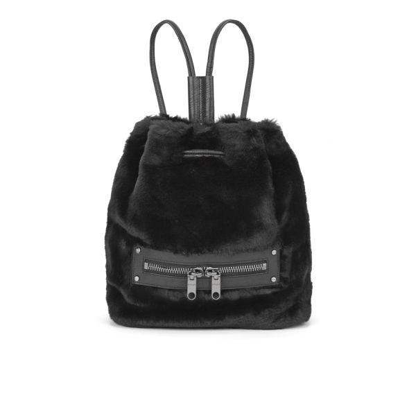 MILLY Skylar Fur Collection Backpack - Black