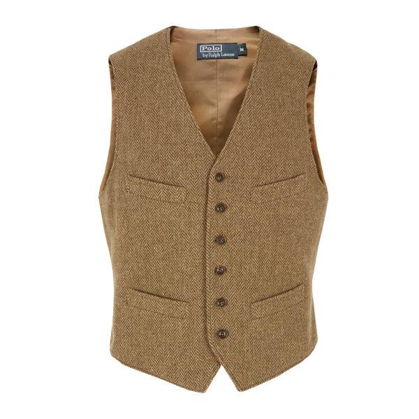 Polo Ralph Lauren Men's Mayfield Tweed Vest - Brown