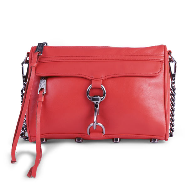 Rebecca Minkoff Mini Mac Small Leather Cross Body Bag - Hot Red