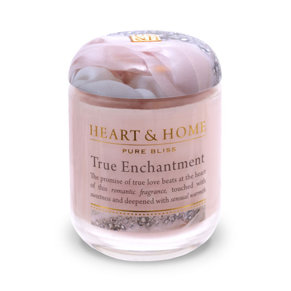 True Romance Enchanting Schemes To Keep You Cosy This: Heart & Home True Enchantment - Small Jar Candle