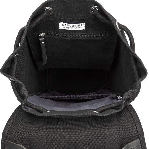 Sandqvist Men s Stig Classic Backpack - Black  Image 4 9395a64672