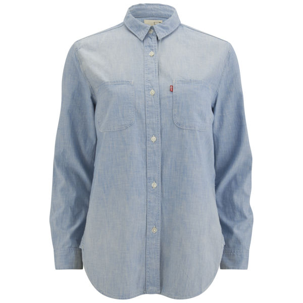 levi 39 s women 39 s workwear boyfriend authentic chambray shirt