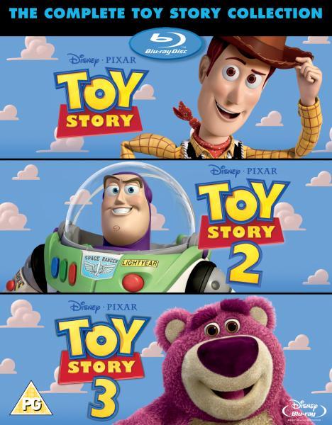 Toy Story 1 2 And 3 Triple Pack Plus Bonus Disc Blu