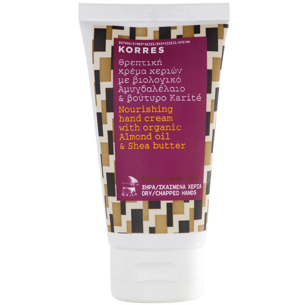 KORRES Almond Oil And Shea Butter Hand Cream For Dry And Chapped Hands 75ml